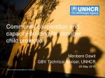 community cooperation and capacity building for stronger child protection