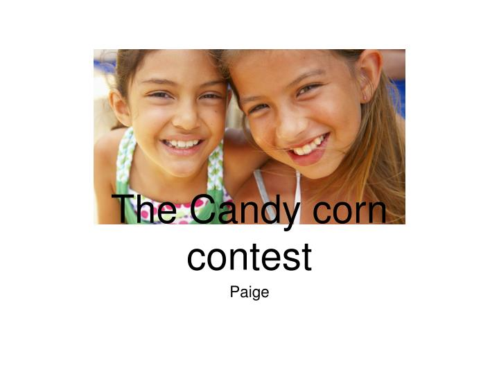 the candy corn contest n.