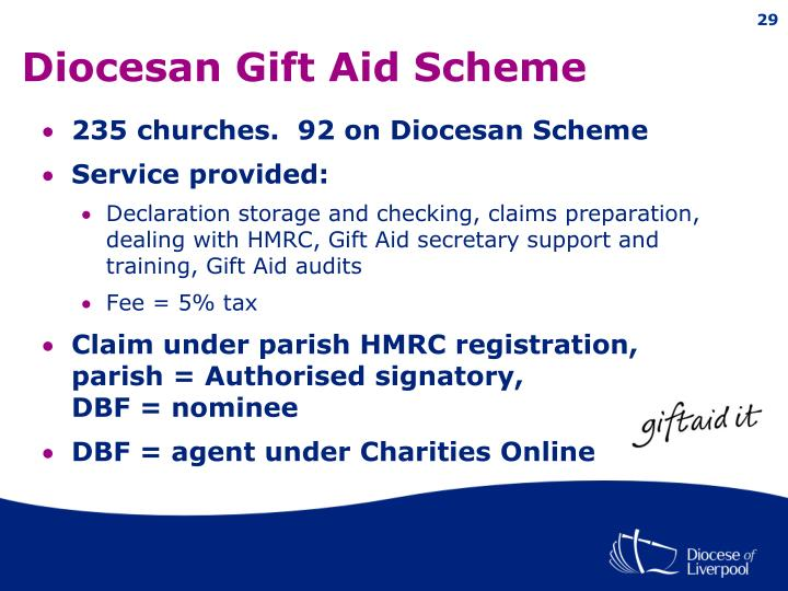 Ppt charities online new gift aid claim process powerpoint diocesan gift aid scheme negle Images