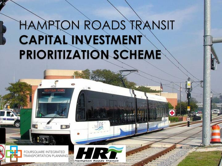 Hampton roads transit capital investment prioritization scheme