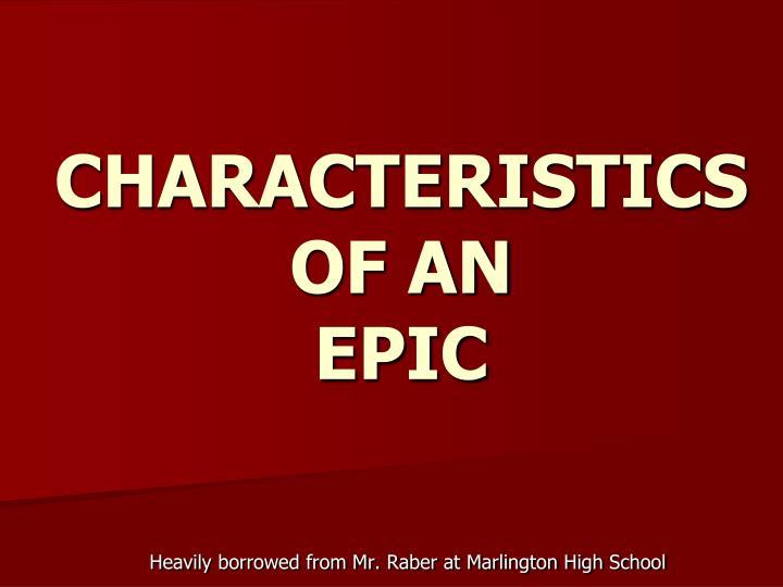 characteristics of an epic n.
