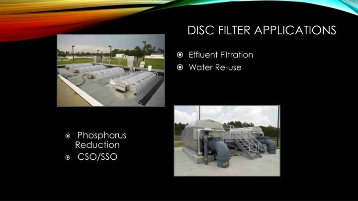 Disc filter applications