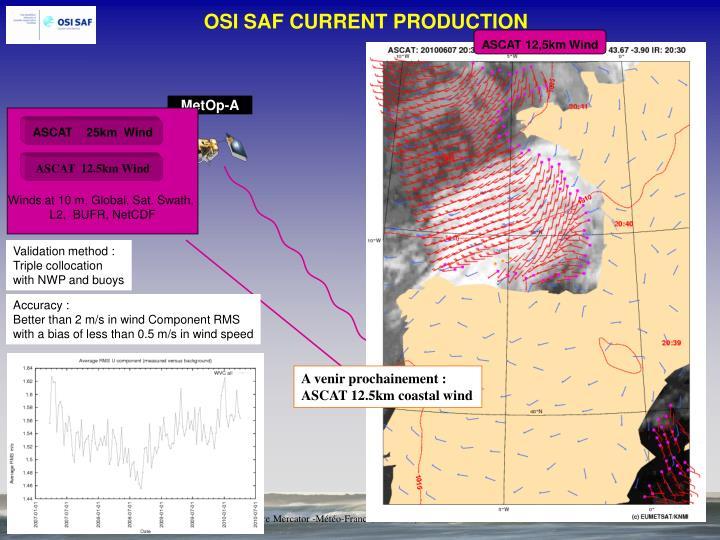 OSI SAF CURRENT PRODUCTION