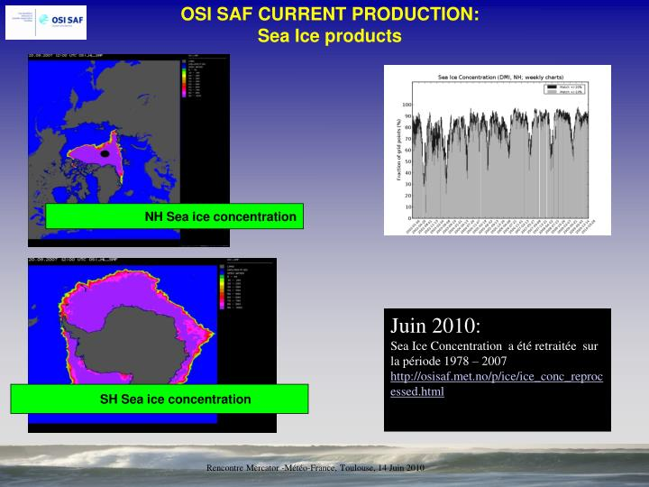 NH Sea ice concentration