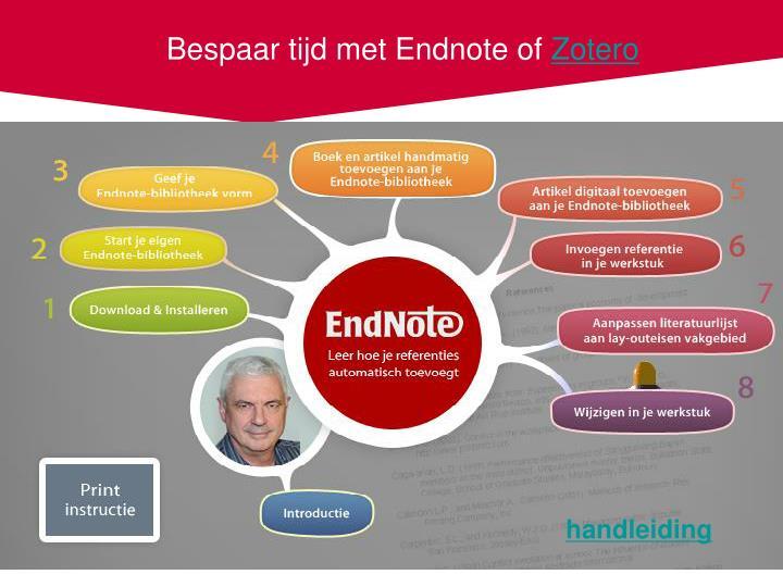 Bespaar tijd met Endnote of