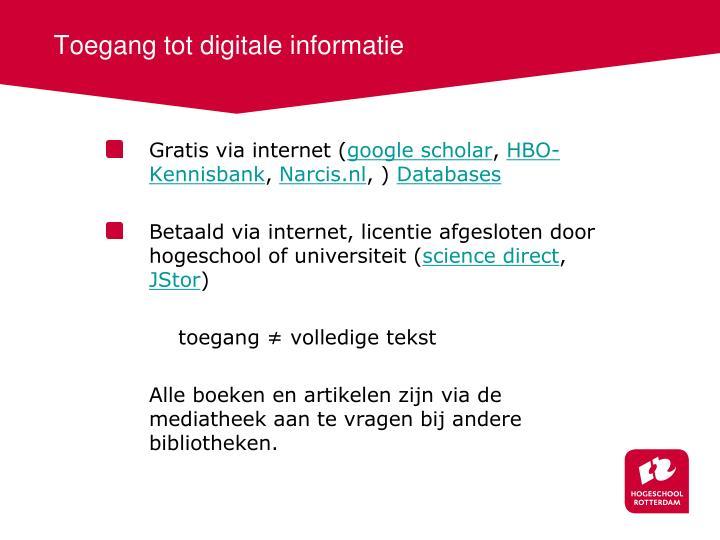 Toegang tot digitale informatie