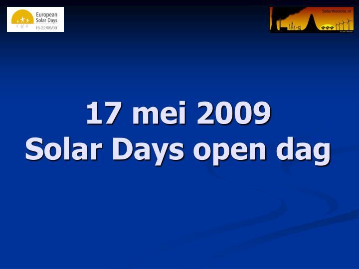 17 mei 2009 solar days open dag
