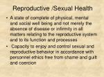 reproductive sexual health