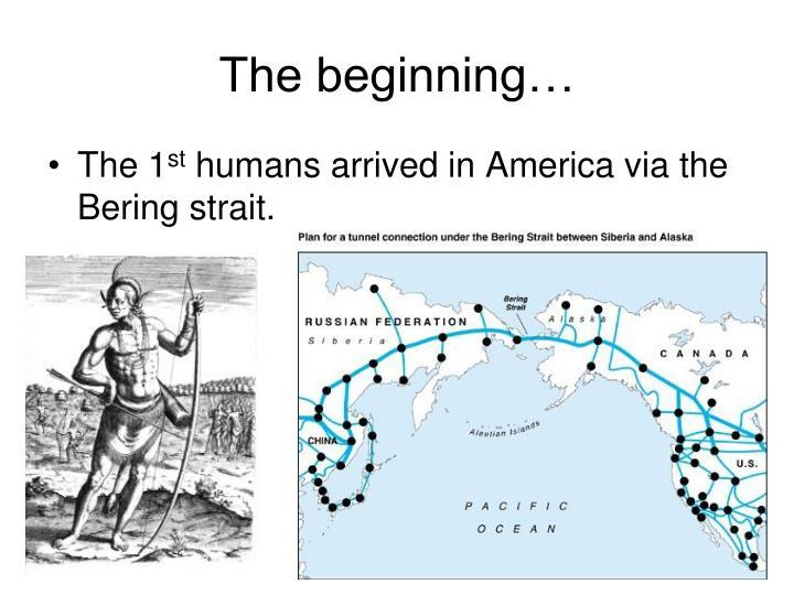 the beginning n.