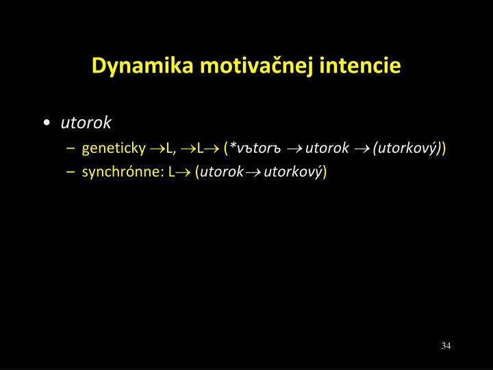 Dynamika motivačnej intencie