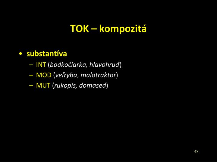 TOK – kompozitá