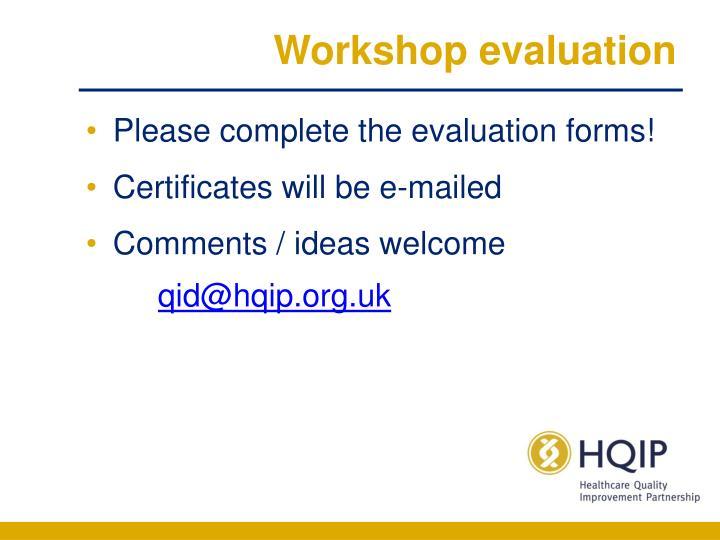 Workshop evaluation