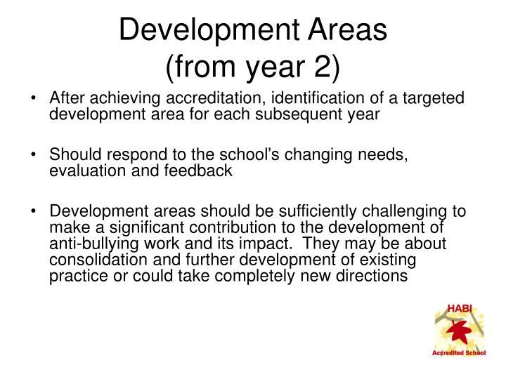 Development Areas