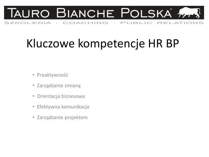 Kluczowe kompetencje HR BP