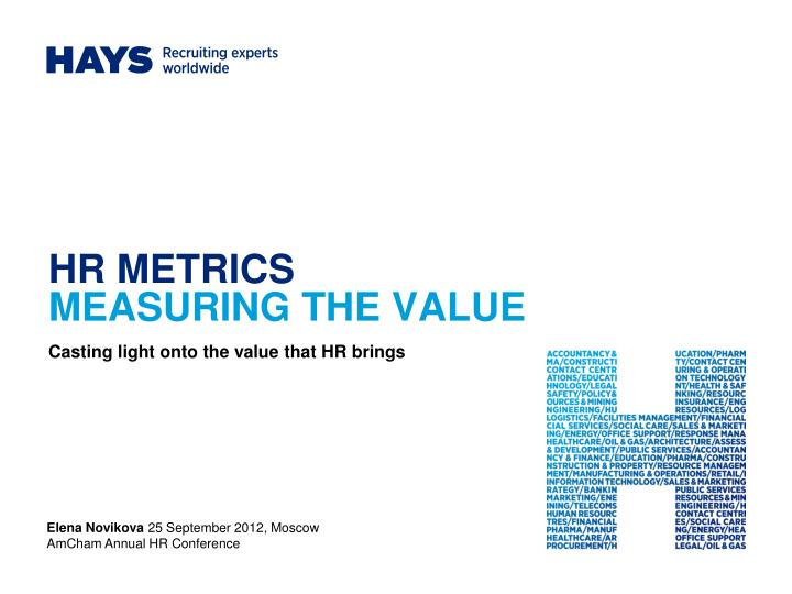 hr metrics measuring the value n.
