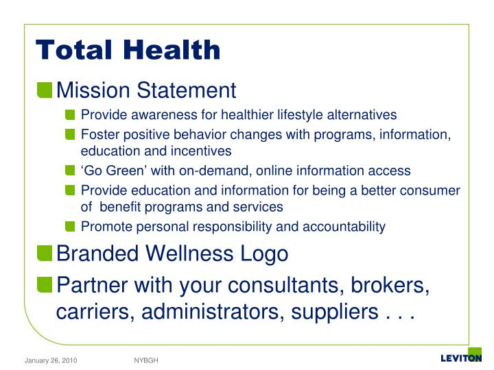 PPT - Leviton Manufacturing Co., Inc. Total Health Management ...
