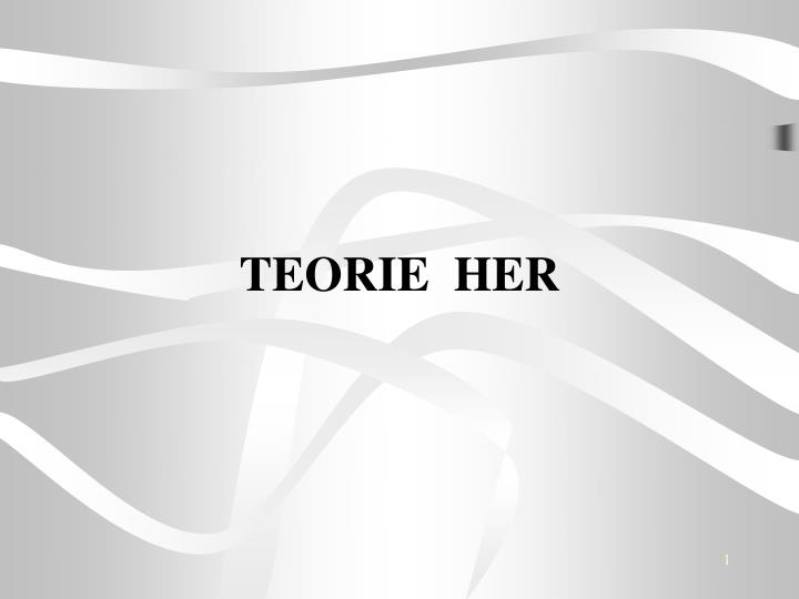 teorie her n.