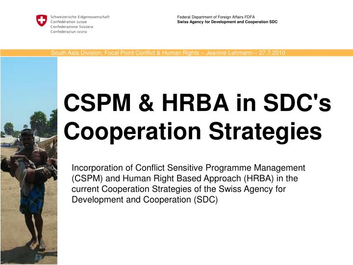 federal department of foreign affairs fdfa swiss agency for development and cooperation sdc n.