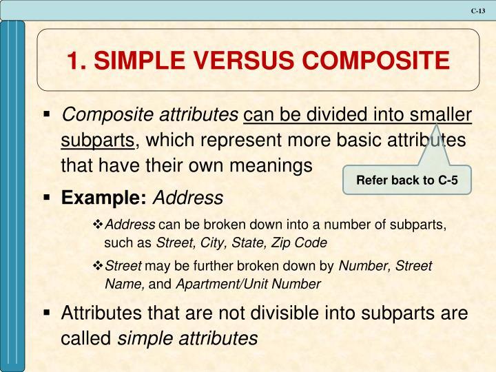1. SIMPLE VERSUS COMPOSITE