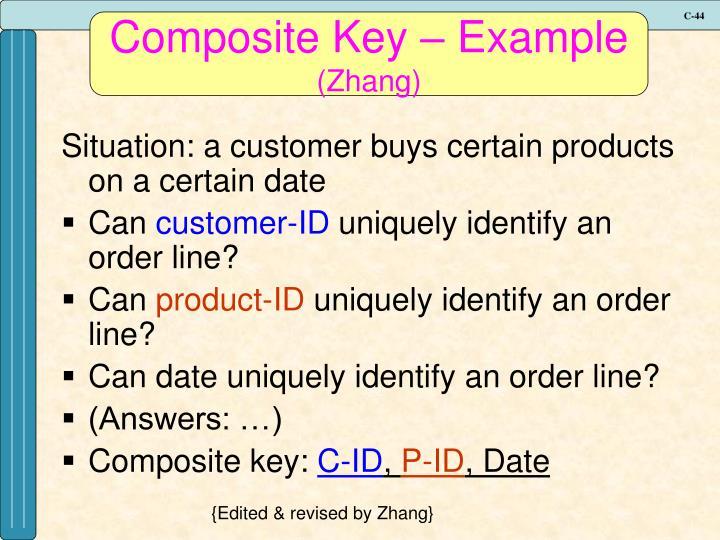 Composite Key – Example