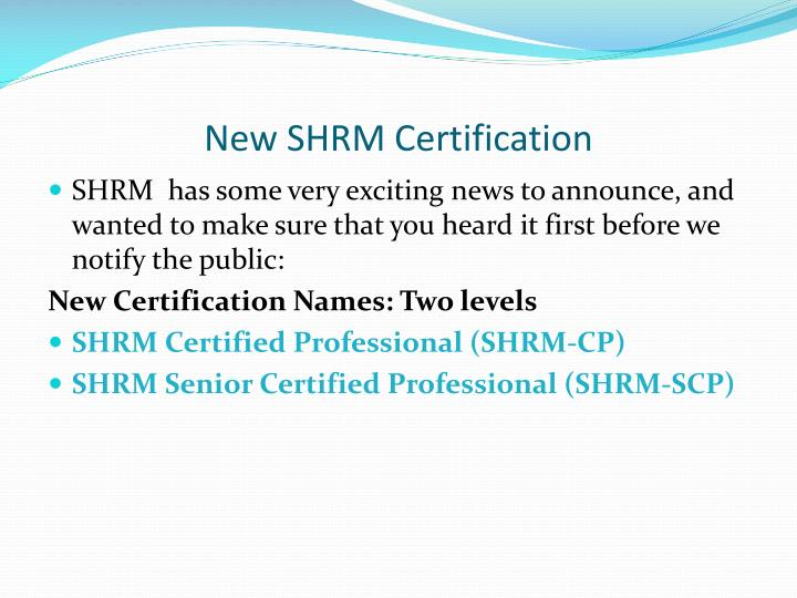 Ppt New Shrm Certification Powerpoint Presentation Id3529841