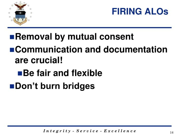 FIRING ALOs