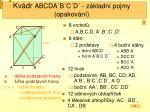 kv dr abcda b c d z kladn pojmy opakov n