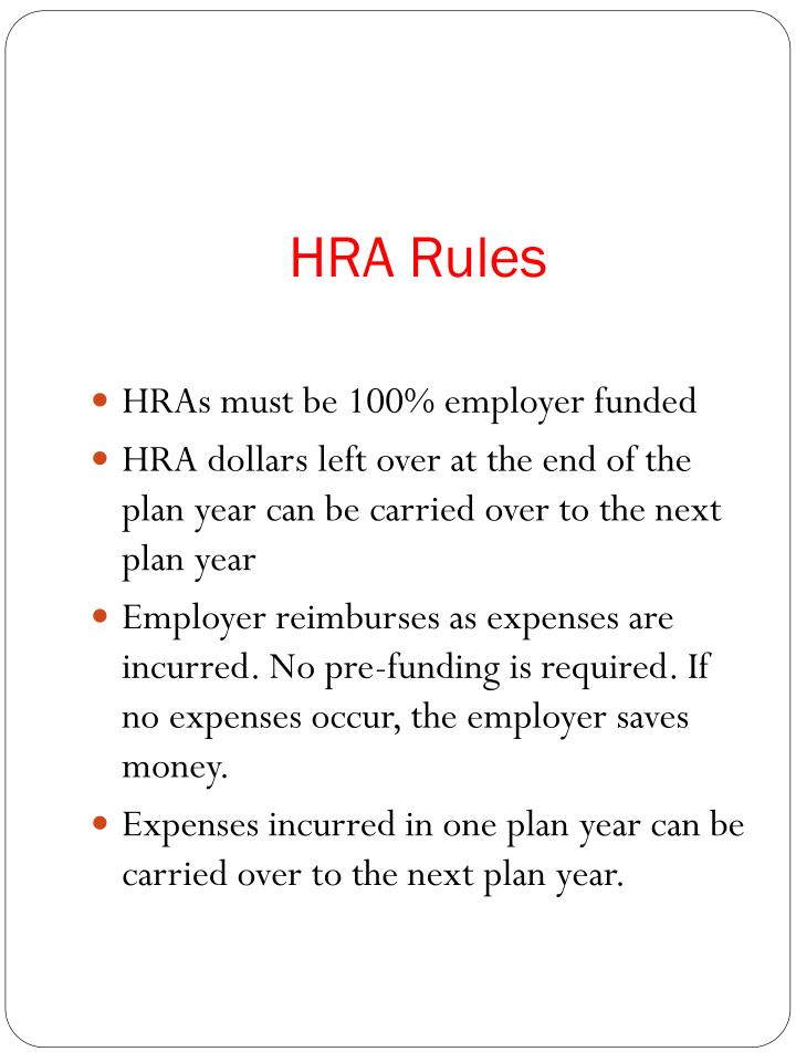 HRA Rules