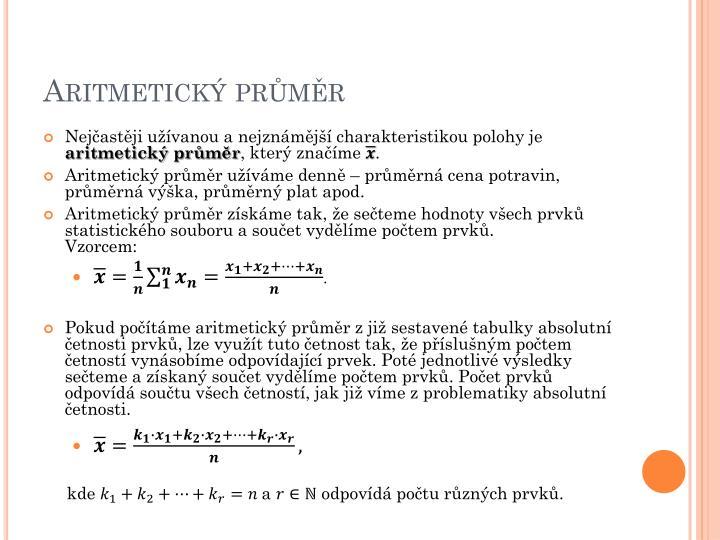 Aritmetick pr m r