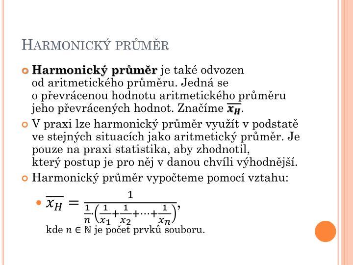 Harmonický průměr