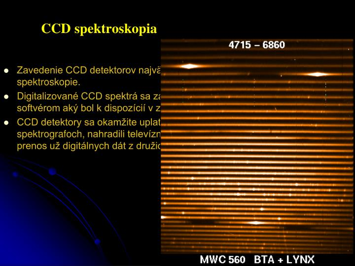 CCD spektroskopia