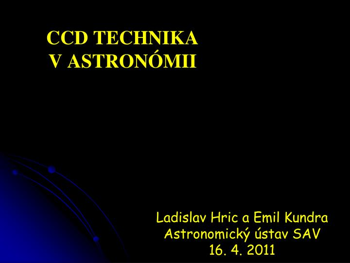 Ccd technika v astron mii