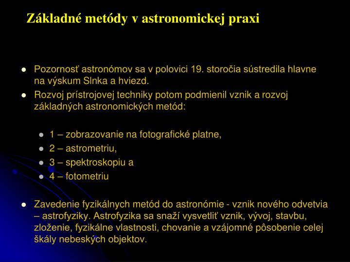 Z kladn met dy v astronomickej praxi1