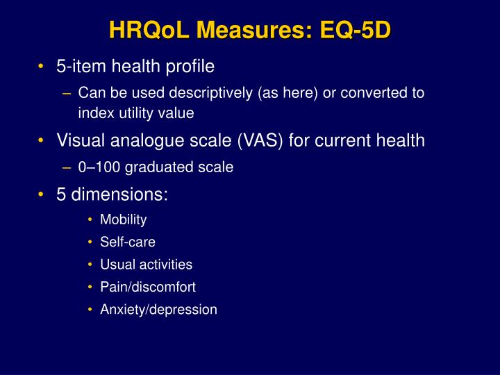 HRQoL Measures: EQ-5D