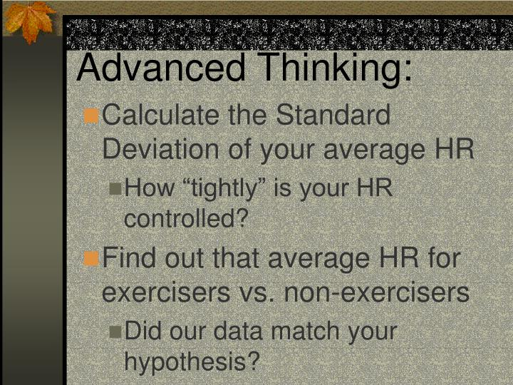 Advanced Thinking: