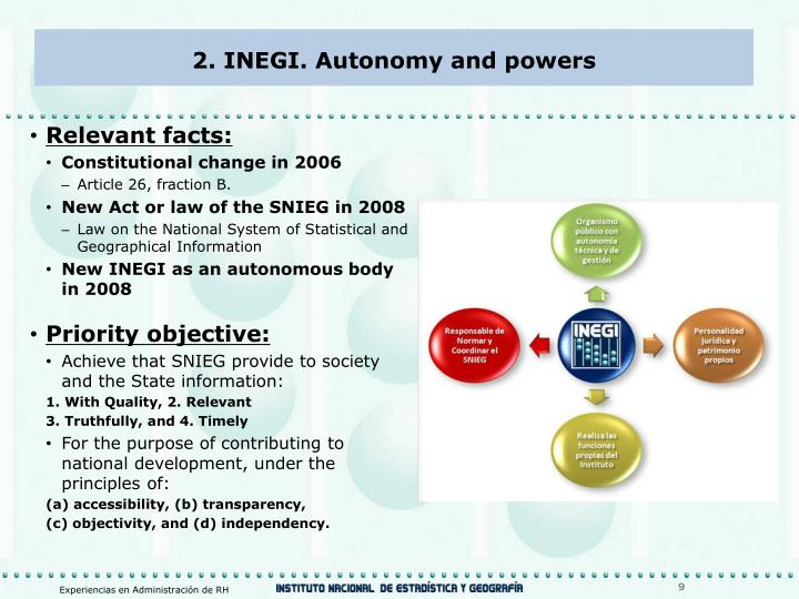2. INEGI. Autonomy and powers