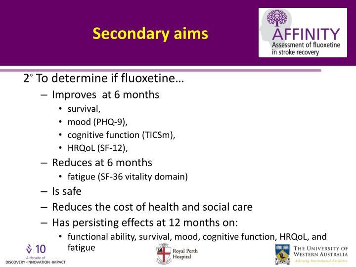 Secondary aims