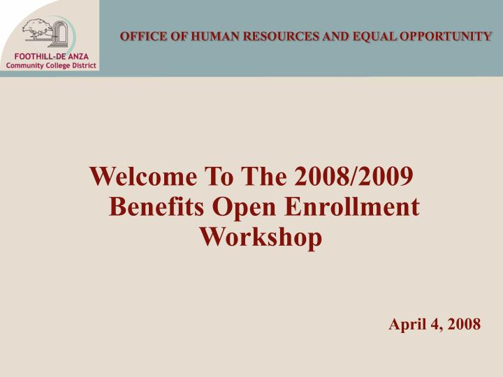 office of human resources and equal opportunity n.