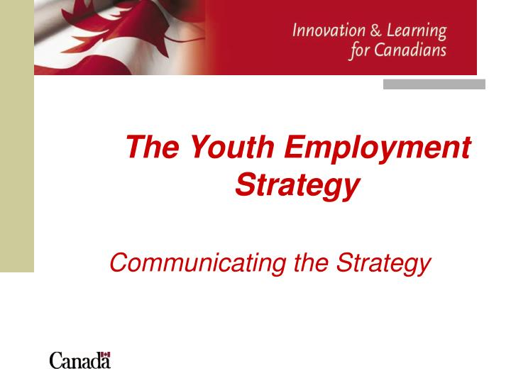 the youth employment strategy n.