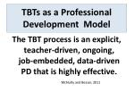 tbts as a professional development model