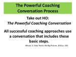 the powerful coaching conversation process