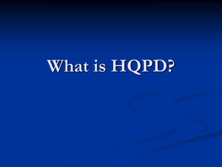 what is hqpd n.