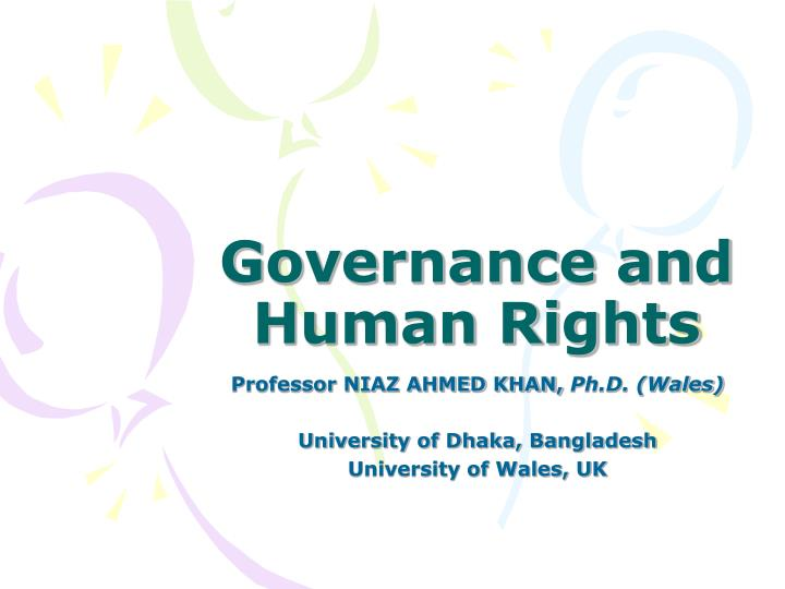 governance and human rights