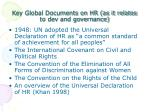 key global documents on hr as it relates to dev and governance