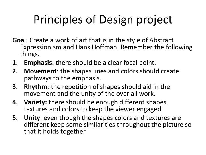 Principles of Design project