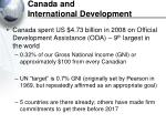 canada and international development