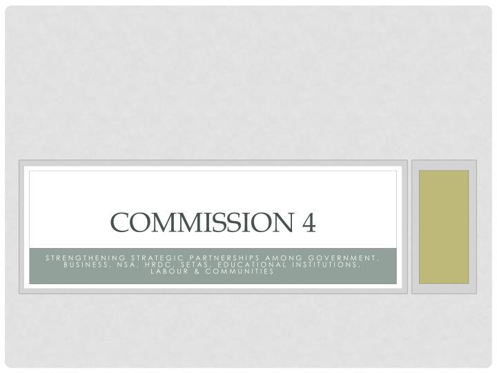 commission 4