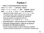 funkce 1
