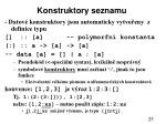 konstruktory seznamu