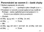 porovn v n se vzorem 3 ast chyby